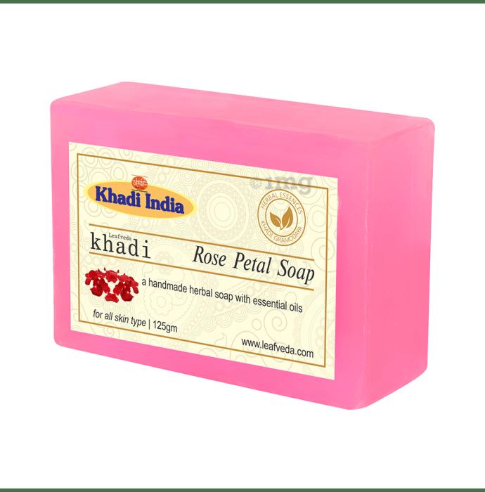 Khadi Leafveda Rose Petal Soap