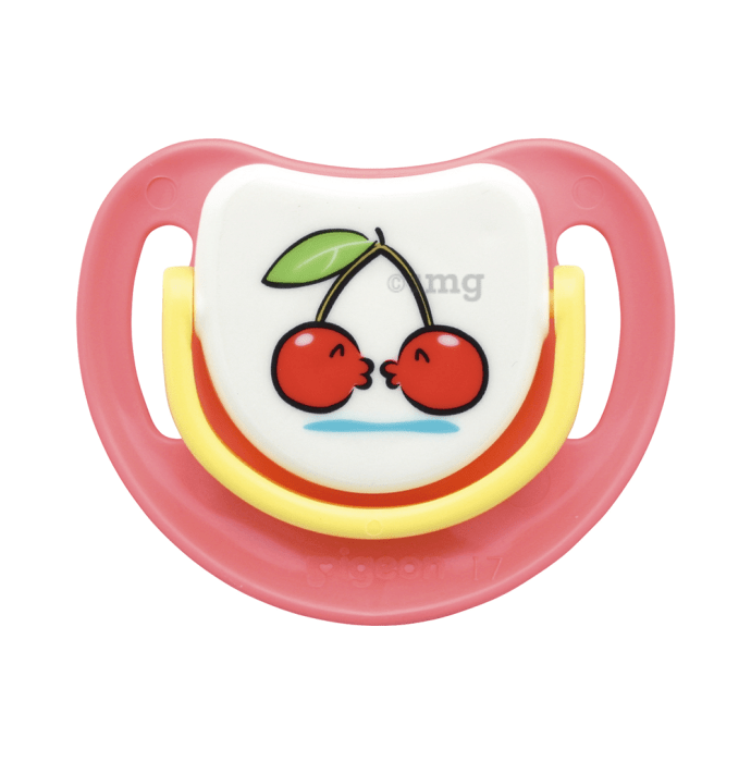 Pigeon Silicone Pacifier Step 3, Cherry