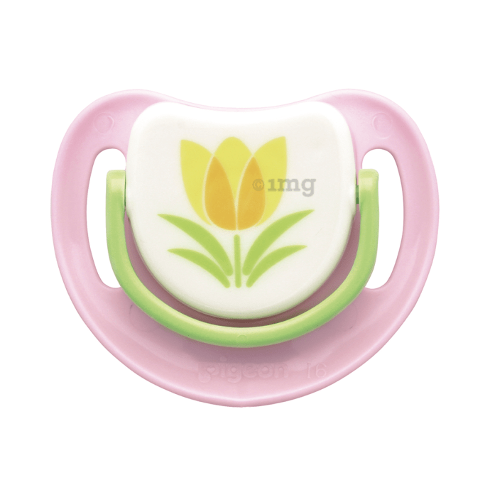 Pigeon Silicone Pacifier Step 3, Tulip