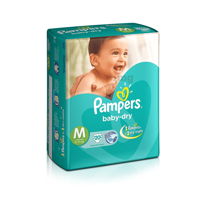 Pampers Baby-Dry Disposable Diaper Medium