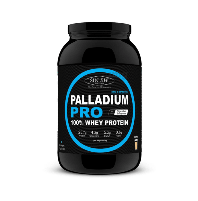 Sinew Nutrition Palladium Pro 100% Whey Protein with Digestive Enzymes Coffee