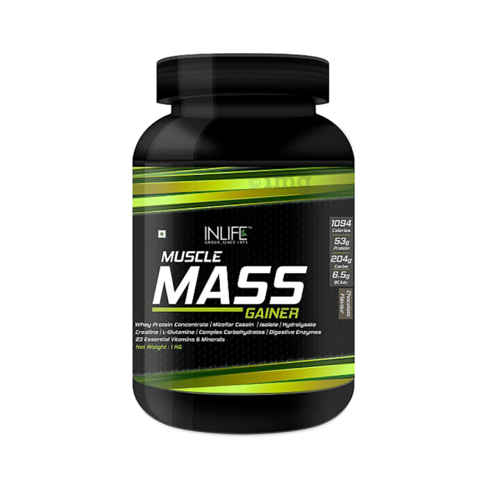 Inlife Muscle Mass Gainer Protein Powder with Whey Protein Chocolate