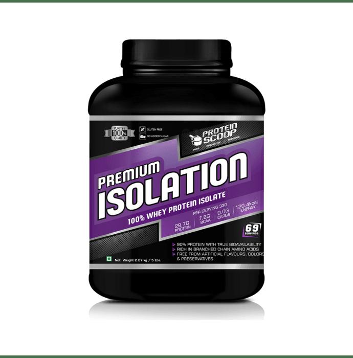 Protein Scoop Premium Isolation 100% Whey Protein Isolate Powder Chocolate