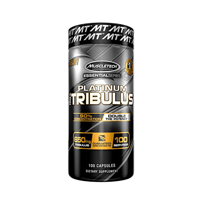 Muscletech Essential Series 100% Platinum Tribulus 650mg Capsule