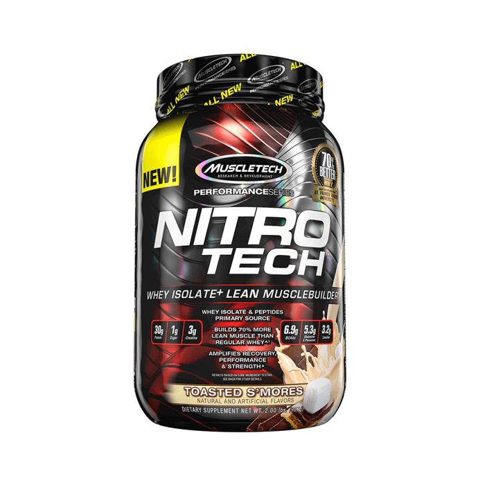 Muscletech Performance Series Nitro Tech Whey Isolate Toasted S'mores