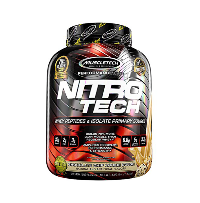 Muscletech Performance Series Nitro Tech Whey Isolate Chocolate Chip Cookie Dough