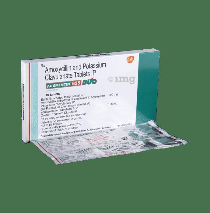 Amoxicillin and potassium clavulanate tablets ip 625 mg