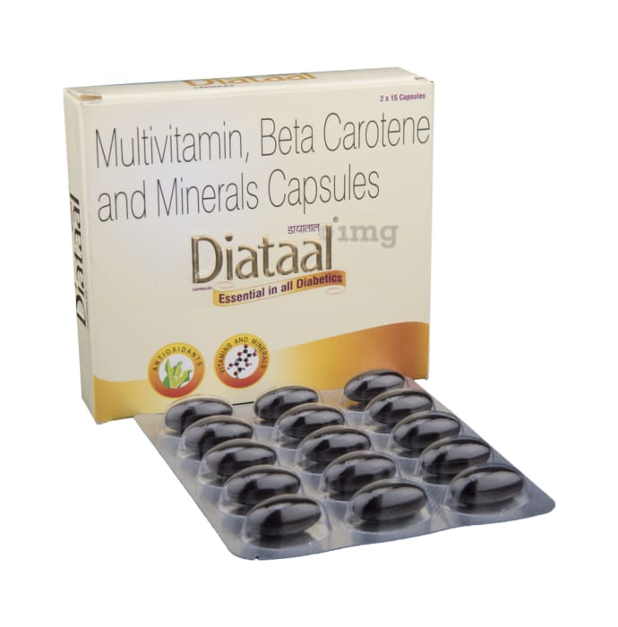 Diataal Multivitamin, Beta Carotene and Minerals Capsule