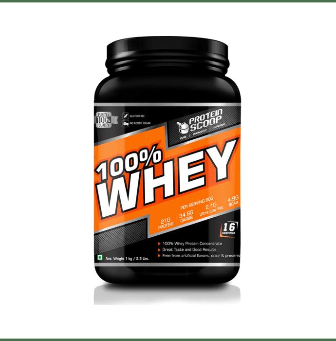 Protein Scoop 100% Whey Protein Concentrate Powder Vanilla