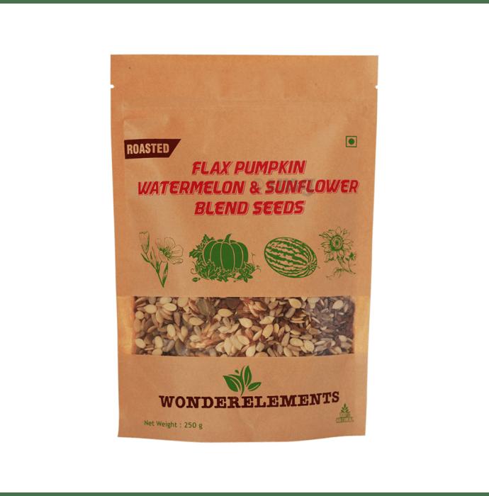 Wonderelements Roasted Flax Pumpkin Watermelon & Sunflower Blend Seeds