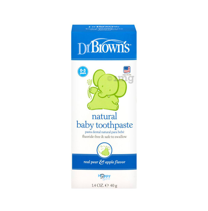 Dr Brown's Natural Baby Toothpaste Real Pear & Apple Flavour