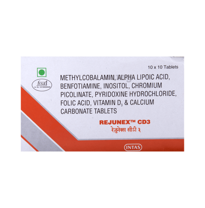 Rejunex CD 3 Tablet: Buy strip of 10 tablets at best price in India | 1mg
