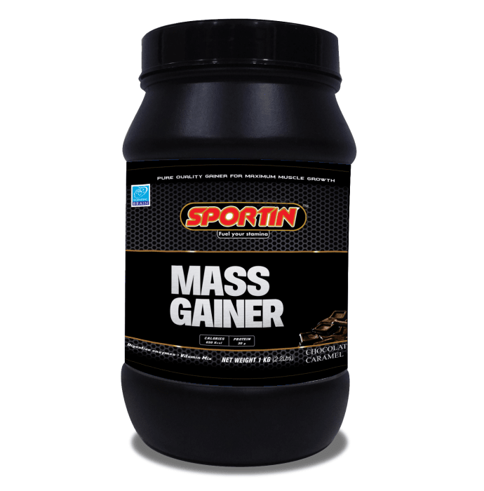 Sportin Mass Gainer Powder Chocolate Caramel
