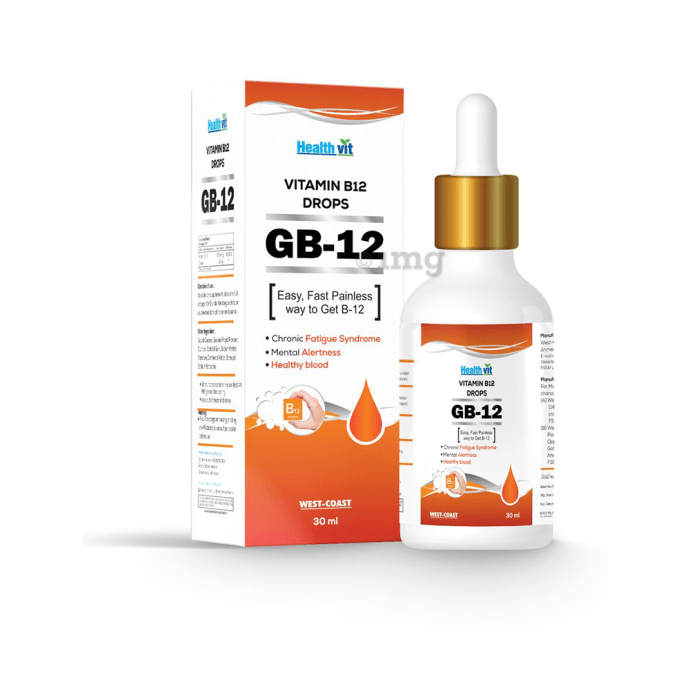 HealthVit GB-12 Vitamin B12 Liquid Drops