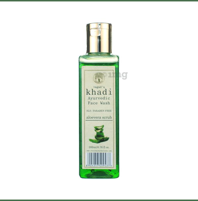 Vagad's Khadi SLS and Paraben Free Aloevera Scrub Face Wash
