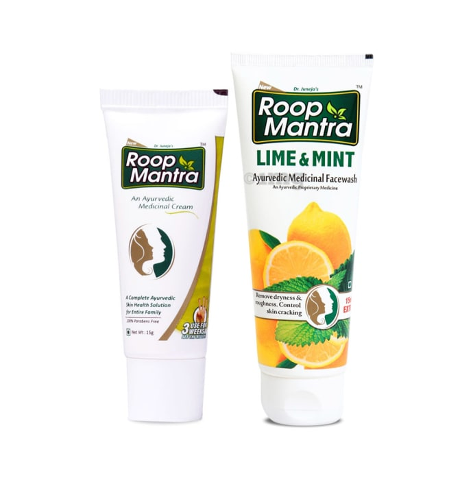 Roop Mantra  Combo Pack of Face Cream 15gm & Lime Mint Face Wash 115ml