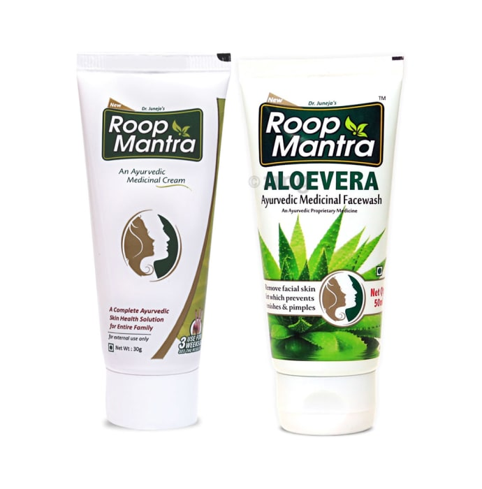 Roop Mantra  Combo Pack of Face Cream 30gm & Aloevera Face Wash 50ml