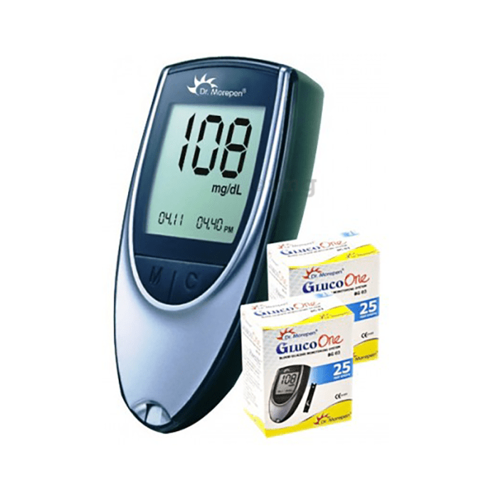 Dr Morepen BG 03 GlucoOne Glucose Monitoring System with 50 Strip