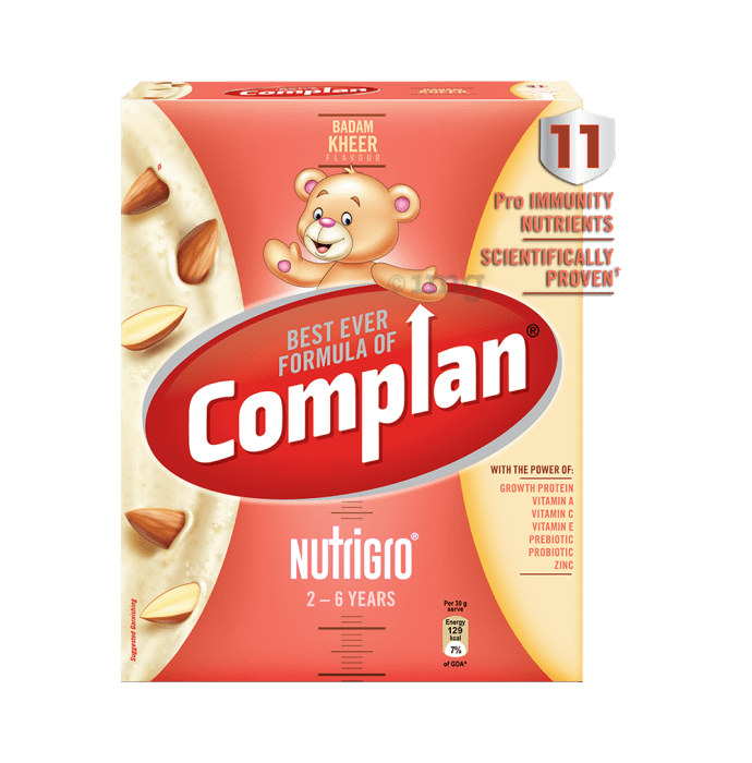 Complan Nutrigro Growth Drink for Toddlers (2 to 6 Years) Refill Badam Kheer