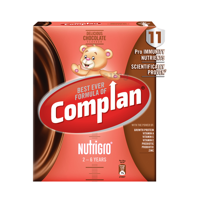 Complan Nutrigro Growth Drink for Toddlers (2 to 6 Years) Refill Delicious Chocolate