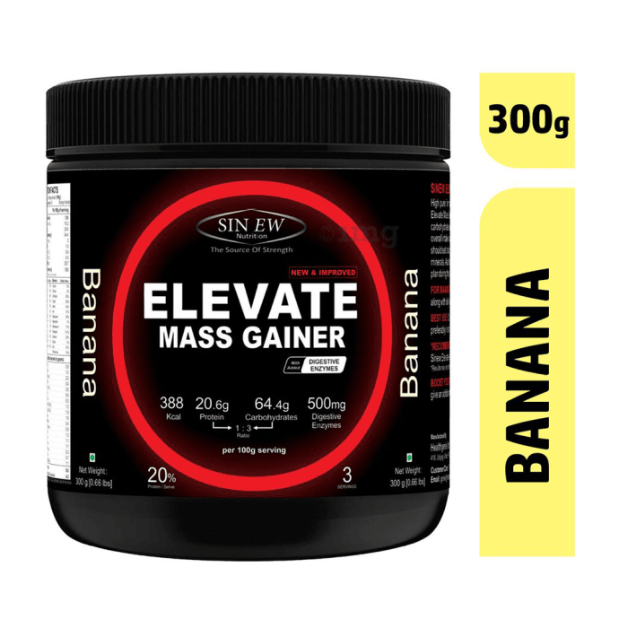 Sinew Nutrition Elevate Mass Gainer with DigiEnzymes Banana