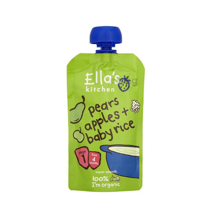 Ella's Kitchen Baby Foods (From 4 months) Pears Apples & Baby Rice