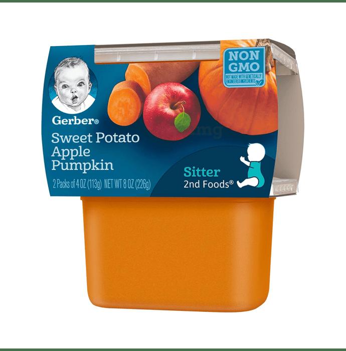 Gerber 2nd Sitter Baby Foods (113gm Each) Sweet Potato Apple Pumpkin