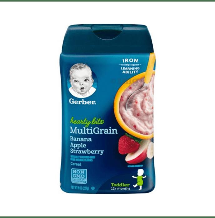 Gerber Hearty Bits Multigrain Cereal Banana Apple Strawberry