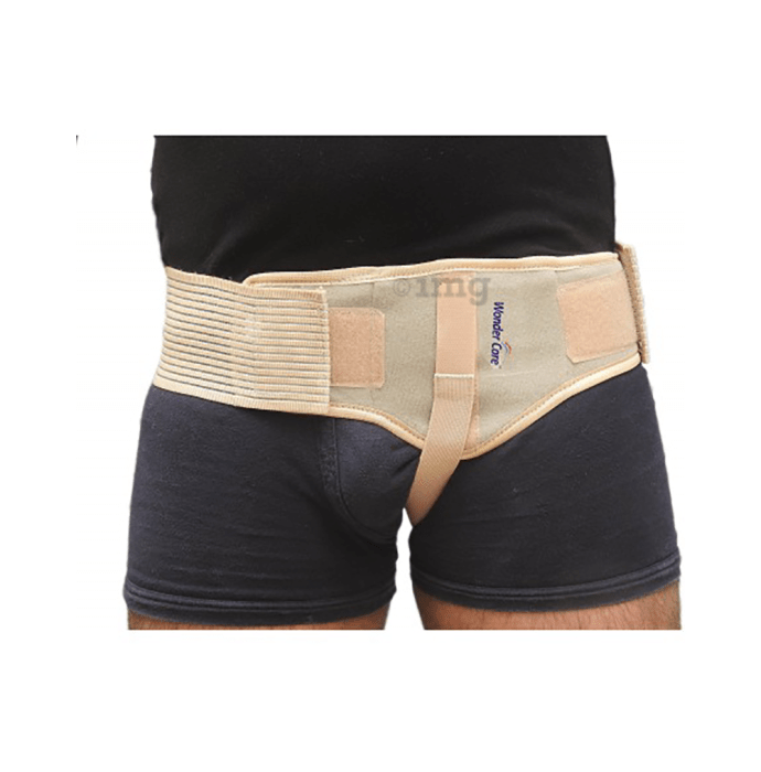 Wonder Care A103 Single Inguinal Hernia Support with One Removable Compression Pad XL Left