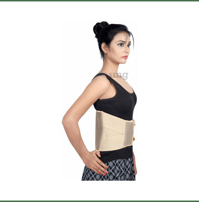Wonder Care B101 Breathable Elastic Lumbar Support Elastic Breathable Back Support Belt M Beige