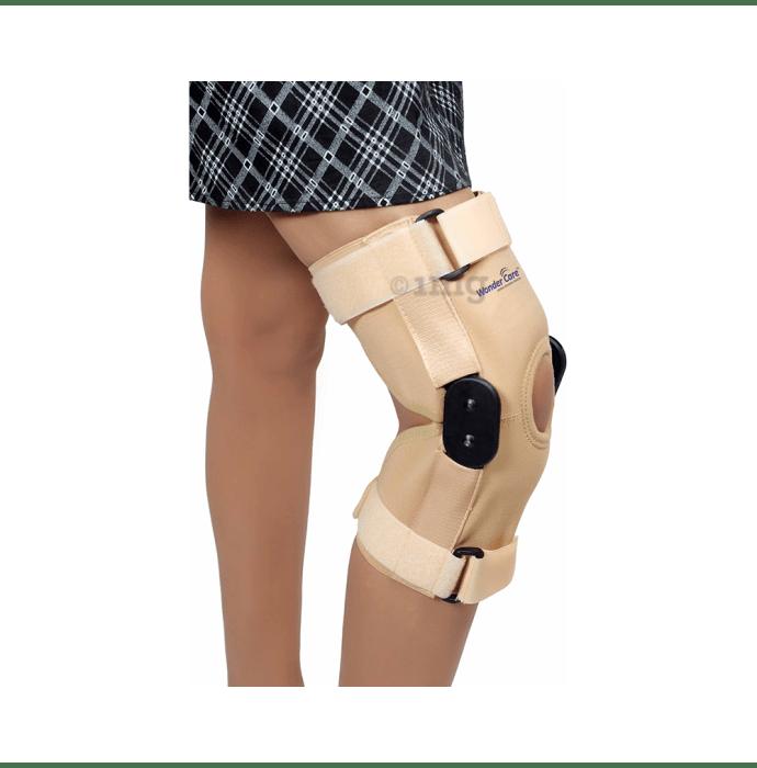 Wonder Care K101, 12 inch Elastic Knee Support Brace with Hinge Open Patella M