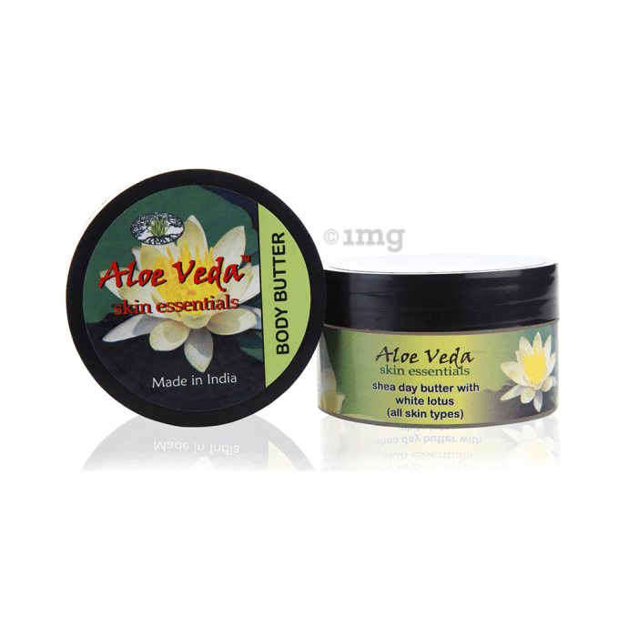 Aloe Veda Luxury Body Butter Shea Butter with White Lotus