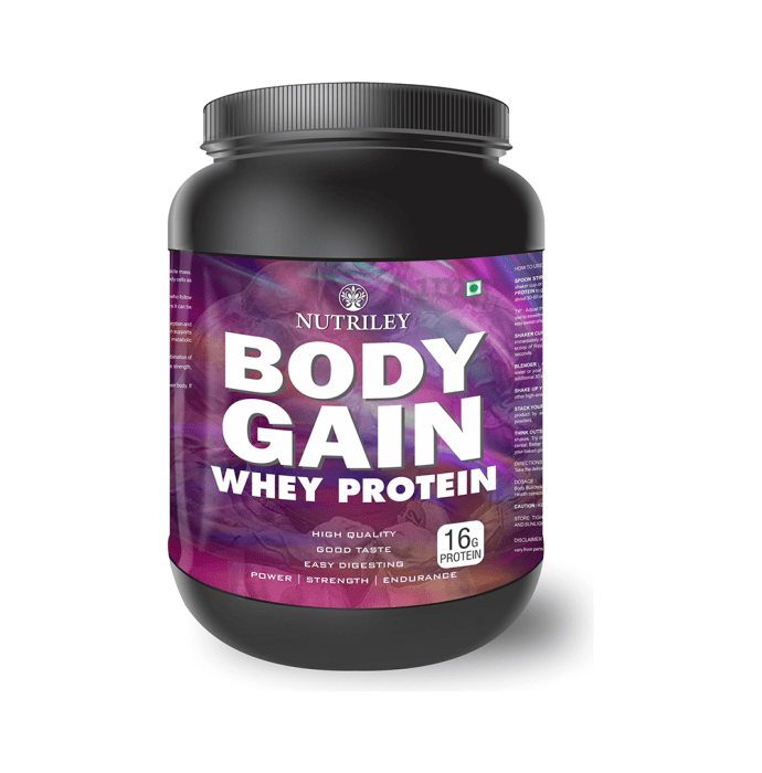 Nutriley Body Gain Whey Protein Powder Elaichi