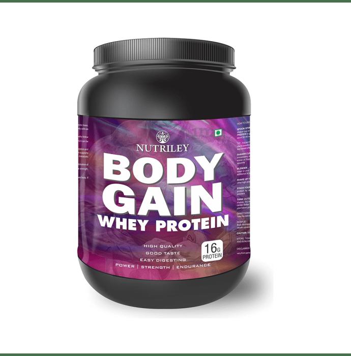 Nutriley Body Gain Whey Protein Powder Banana