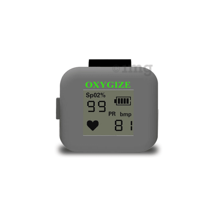Oxygize Premium Ring Pulse Oximeter Grey