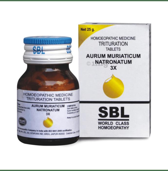 SBL Aurum Muriaticum Natronatum Trituration Tablet 3X