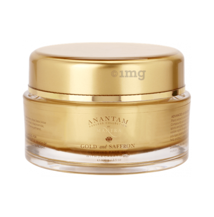 Mantra Anantam Gold and Saffron Glowing Face Gel with 24 k Gold