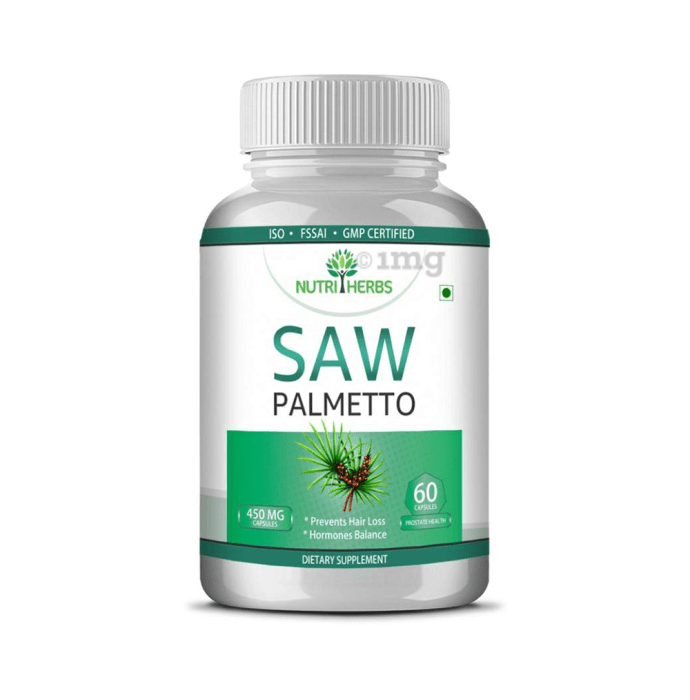 Nutriherbs Saw Palmetto 450mg Capsule