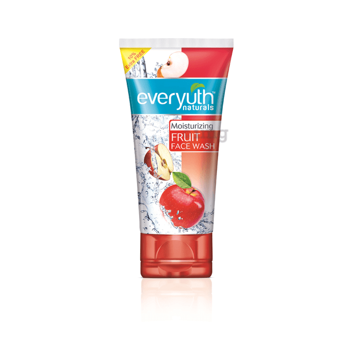 Everyuth Naturals Moisturizing Fruit Face Wash with Apple Extracts 150gm +15gm Extra