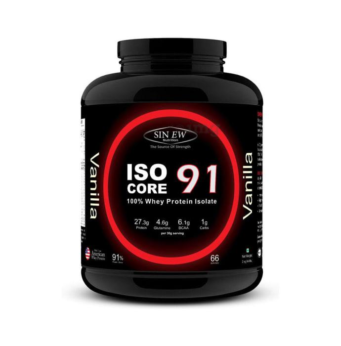 Sinew Nutrition Isocore91 100% Whey Protein Isolate Powder Vanilla