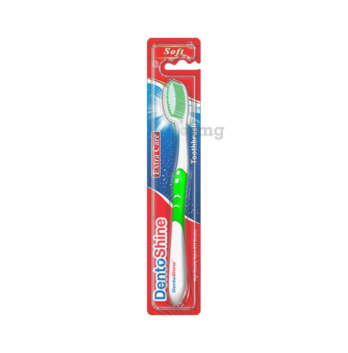 DentoShine Extra Care Soft Toothbrush Green