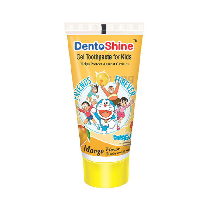 DentoShine Gel Toothpaste for Kids Mango Doraemon