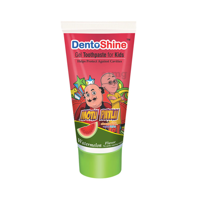 DentoShine Gel Toothpaste for Kids Watermelon Motu Patlu