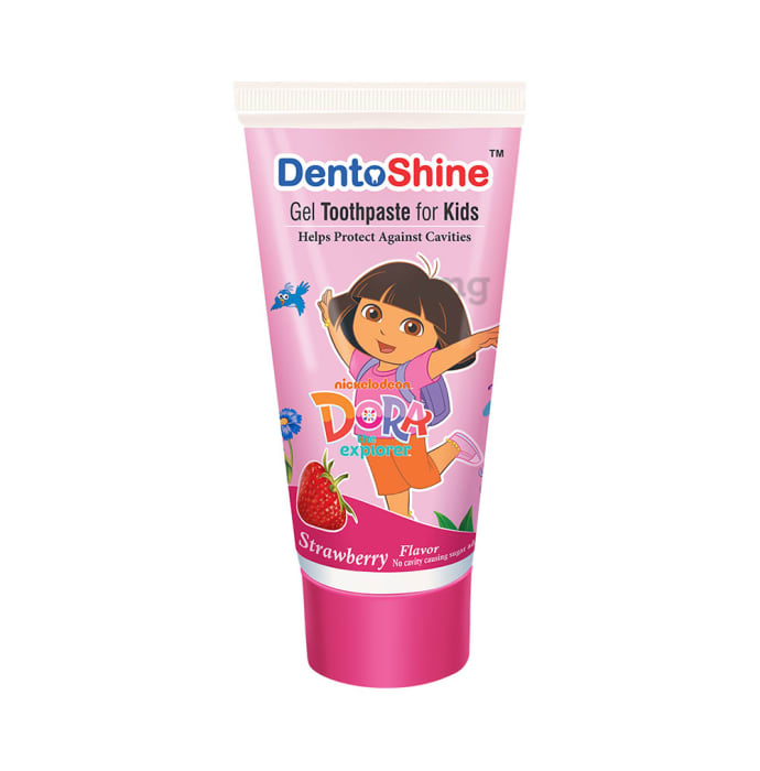 DentoShine Gel Toothpaste for Kids Strawberry Dora