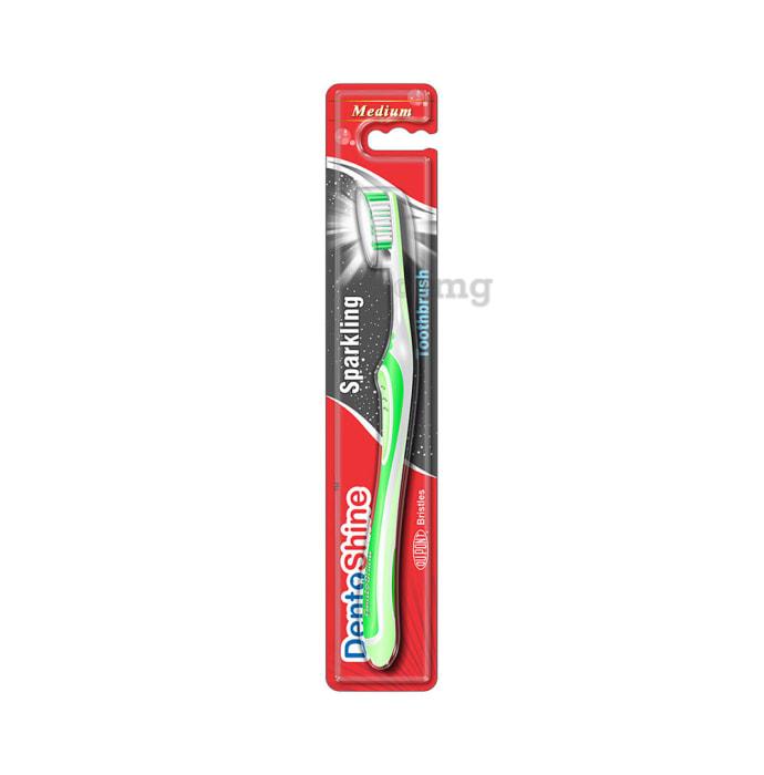 DentoShine Sparkling Toothbrush M Lime Green