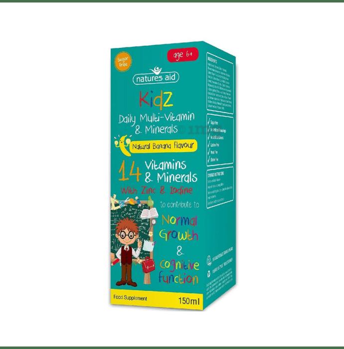 Natures Aid Kidz Multi-Vitamin & Mineral Liquid Age 6+ Banana
