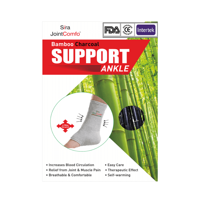 Sira Bamboo Charcoal Ankle Sleeve Support
