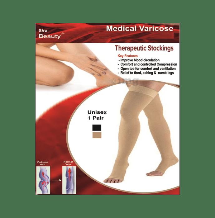 Sira Beauty Medical Vericose Grade II Medium Pressure Pair of Stockings XXL Beige