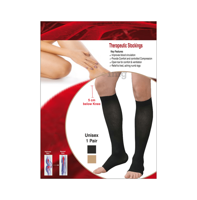 Sira Beauty Medical Vericose Grade II Medium Pressure Pair of Stockings M Black