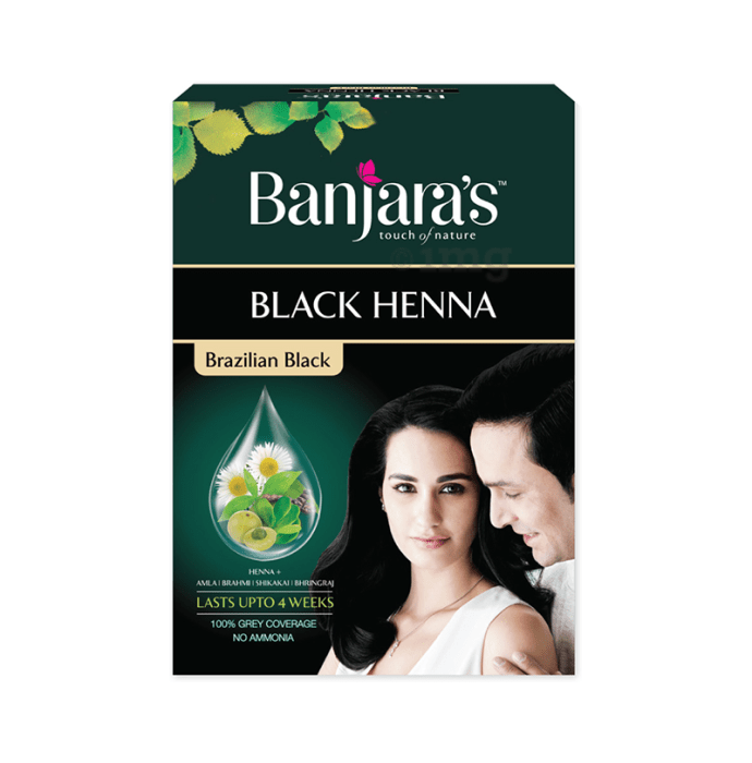 Banjara's Black Henna Brazilian Black